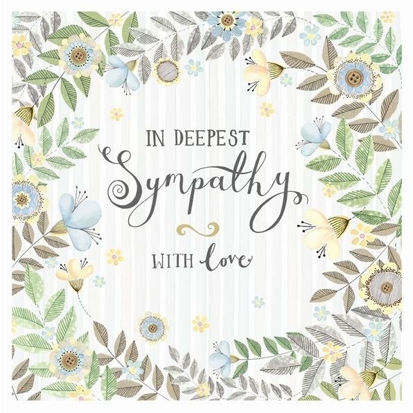 Sympathy & Condolence Card - IN Deepest SYMPATHY - WITH Love - Bereavement