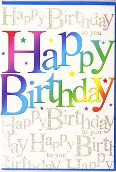 HAPPY BIRTHDAY TO YOU. MALE Happy Birthday Greeting Card.