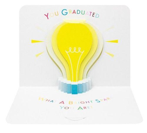 Graduation Cards - Graduation POP UP Card - WHAT A Bright SPARK - GRADUATIO