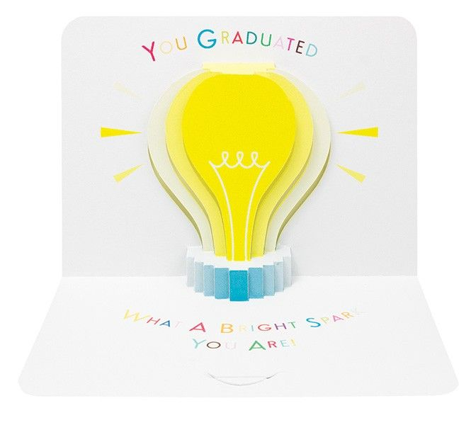 Graduation Cards - Graduation POP UP Card - WHAT A Bright SPARK - GRADUATIO