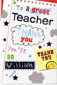 Teacher Thank You Cards - YOU'RE So BRILLIANT - Card for TEACHERS - Teacher CARD - END Of TERM Card FOR Teacher - LEAVING Card FOR Teacher