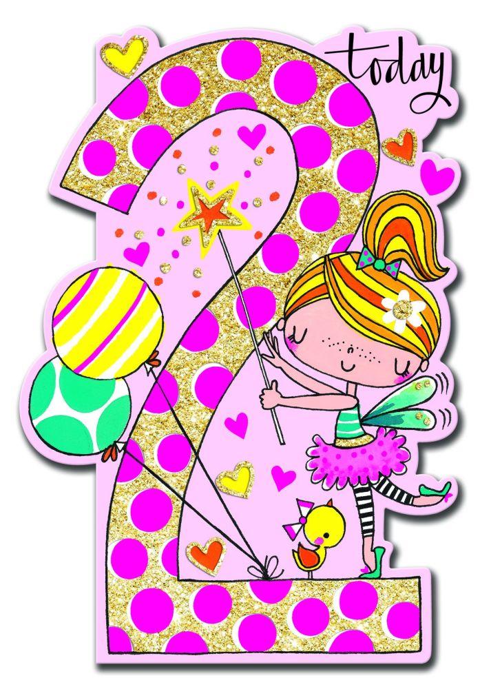 2nd Birthday Card Girl