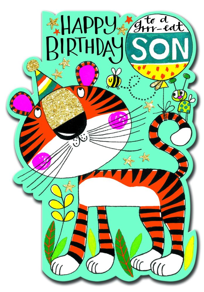 Birthday Card Son - Tiger BIRTHDAY Card - HAPPY Birthday - To A Grrr-eat SO