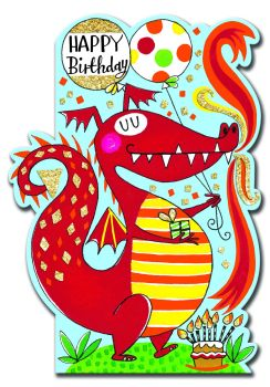 Birthday Card Boy - Dragon BIRTHDAY Card - HAPPY Birthday - CHILDREN'S Birthday Card - CARD For SON - Grandson - BROTHER - Nephew