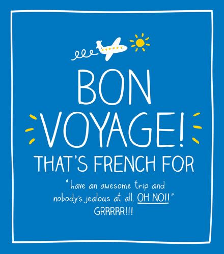 Leaving Cards - BON VOYAGE - Sarcastic LEAVING Card - Leaving CARD For WORK