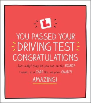 Driving Test Cards - FUNNY Driving TEST Card - AMAZING - PASSED Driving Test CARDS - Congratulations CARD - Well DONE Passing Driving TEST