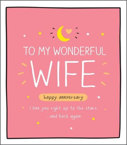 wife anniversary card to my wonderful wife happy anniversary