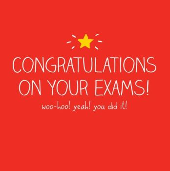 Exam Congratulations Cards - WOO HOO Yeah You DID IT - EXAM Success CARDS - Exam CARDS - Congratulations CARDS - Funny CONGRATULATIONS Cards