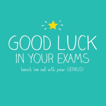 Good Luck Cards - GOOD Luck Exam CARDS - KNOCK 'Em OUT - Funny EXAM Cards - Good LUCK Cards FOR Exams - GOOD Luck CARD Messages