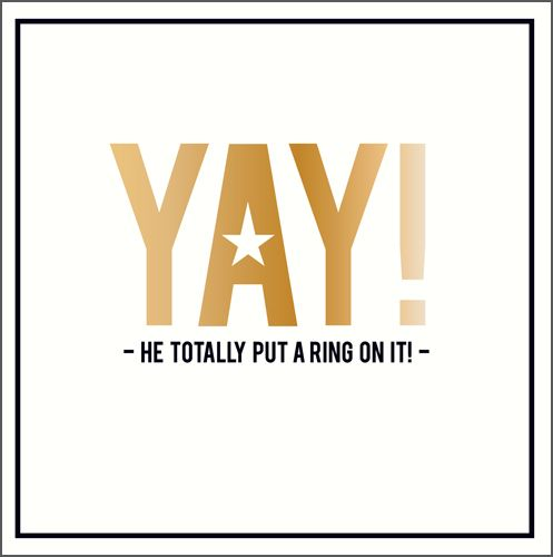 Funny Engagement Cards - YAY - Engagement CARDS - Wedding & ENGAGEMENT Card