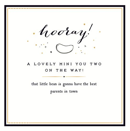 New Twins & Twin Birth Cards - A LOVELY Mini YOU Two - Cards For TWIN Baby