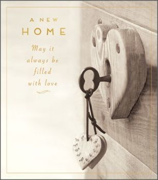 New Home Filled With Love Card - New Home Cards - FILLED with LOVE - Moving HOUSE Card - HOUSEWARMING Card - NEW House CARD - Moving House CARD