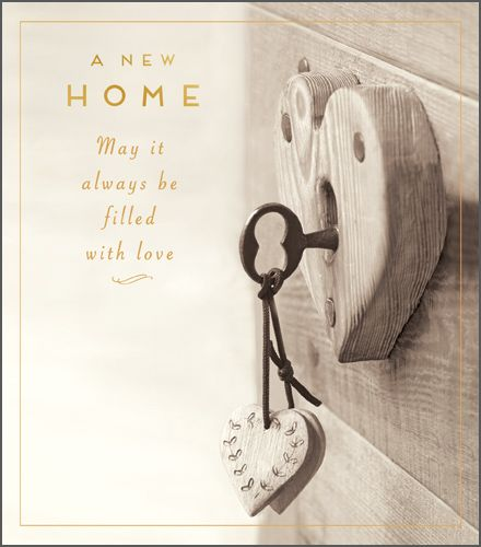 New Home Filled With Love Card - New Home Cards - FILLED with LOVE - Moving