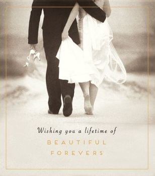 Wedding Cards - PHOTOGRAPHIC Wedding DAY Card - ROMANTIC Wedding DAY Card - WISHING You a LIFETIME Of BEAUTIFUL Forevers - Wedding CONGRATS