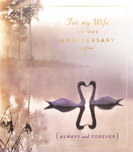 Wife Anniversary Cards - ALWAYS & Forever - Swan CARDS - ROMANTIC Anniversa