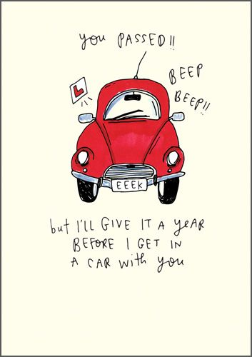 Driving Test Cards - YOU Passed BEEP BEEP - Funny DRIVING Test CARD - Sarca