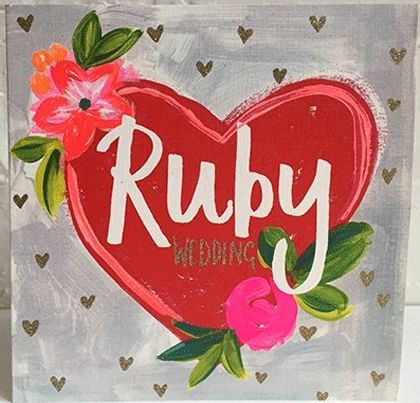 Ruby Anniversary Cards - 40th RUBY Wedding ANNIVERSARY Cards - RUBY Wedding