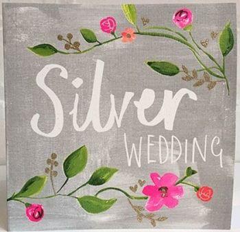25th WEDDING ANNIVERSARY CARD - Silver - ANNIVERSARY Card - WEDDING Anniversary Card - Anniversary FOR HER