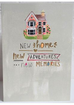 New Home Card - NEW Adventures NEW Memories - MOVING Card - HOUSEWARMING Card