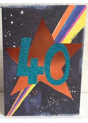 40th Birthday Card - SPARKLY Card - COPPER Foil Card - UNIQUE Birthday CARD