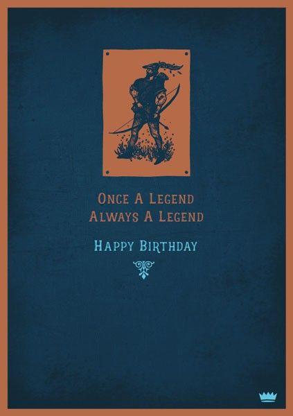 Legend Card - ALWAYS A Legend - HAPPY Birthday CARD - Funny BIRTHDAY Cards