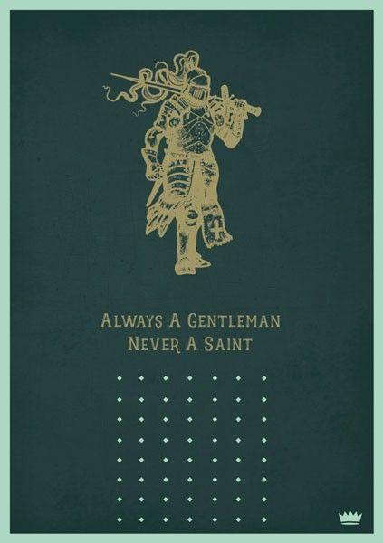 Cheeky Male Birthday Cards - ALWAYS A Gentleman NEVER A Saint - KNIGHT Birt