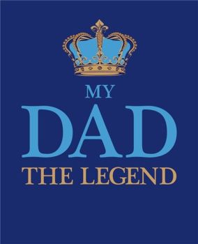 Birthday Cards For Dad - MY Dad THE LEGEND - DAD Birthday Cards - Funny Birthday CARDS - Legend BIRTHDAY CARDS - CUTE Birthday CARD - DAD Cards