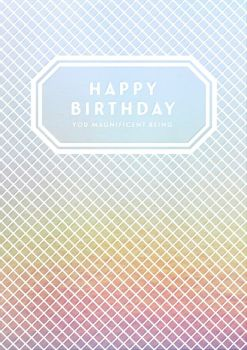 Birthday Card for Her - HAPPY Birthday You MAGNIFICENT BEING - Happy BIRTHDAY Greeting Card -  PRETTY Card - CARD For FRIEND - Sister