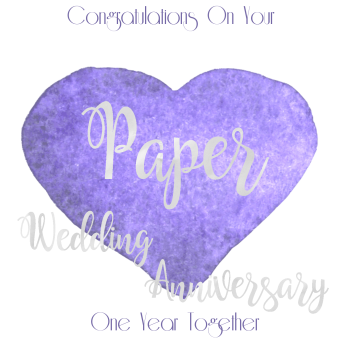 Handmade - Anniversary Cards - 1 YEAR Wedding Anniversary - Paper - CONGRATULATIONS - WEDDING Anniversary Card - Anniversary CARDS For WIFE - Him