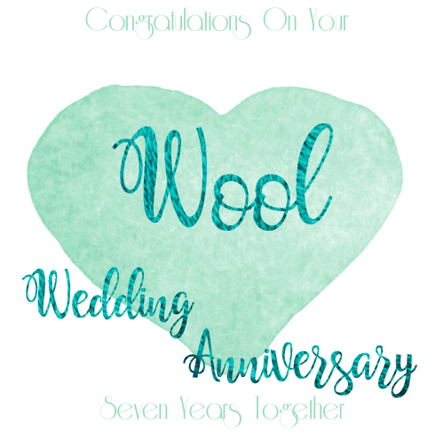 Wool 7th wedding anniversary card anniversary greeting card m4hsunfo
