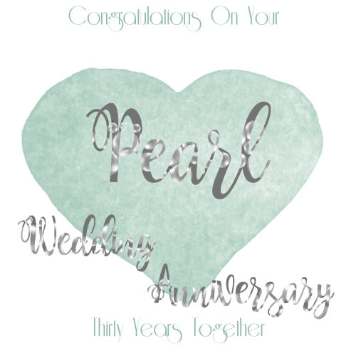 30th Wedding Anniversary: 30th WEDDING ANNIVERSARY CARD