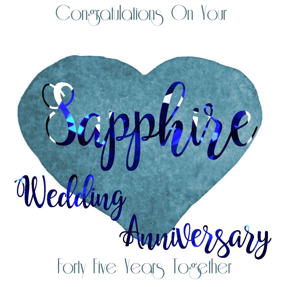 45th Wedding Anniversary Card Sapphire Handmade