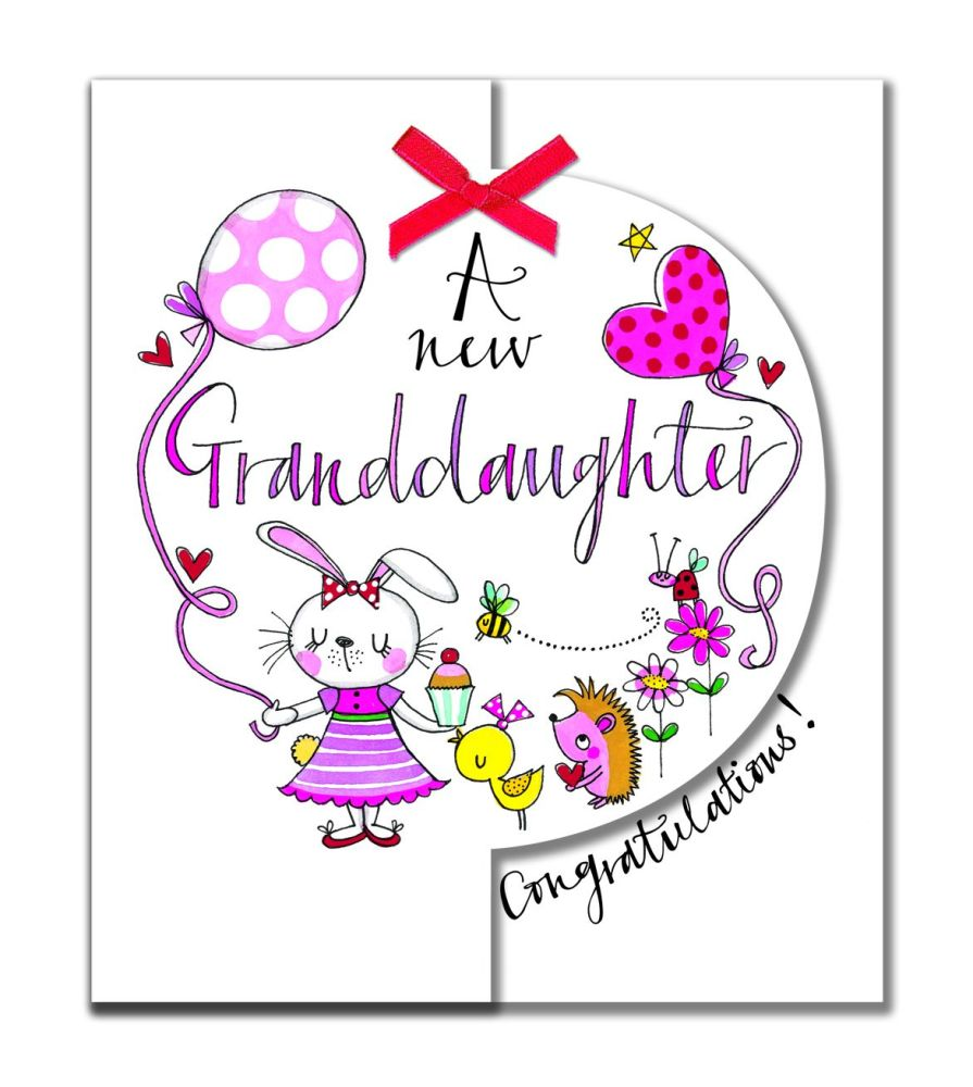 New Granddaughter Cards - A New GRANDDAUGHTER - CONGRATULATIONS - New BABY