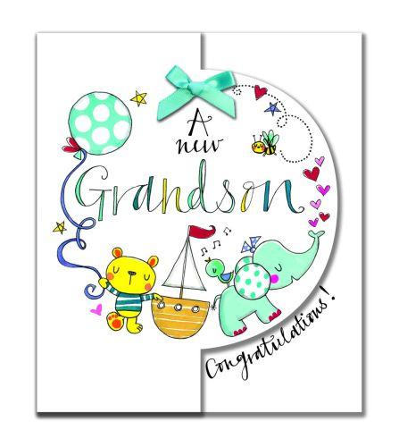 New Grandson Cards - A New GRANDSON - CONGRATULATIONS - New BABY Grandson C