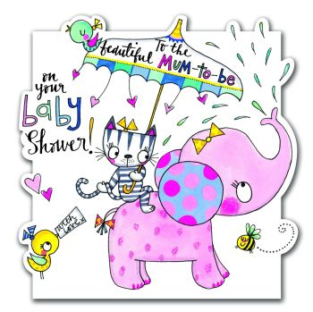 Baby Shower Card - TO THE BEAUTIFUL MUM-TO-BE ON YOUR BABY SHOWER!