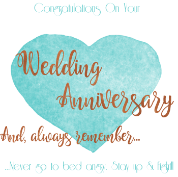 Handmade - FUNNY Anniversary Cards - NEVER Go To BED Angry - WEDDING Anniversary GREETING Cards - Funny Wedding ANNIVERSARY Cards FOR Friends
