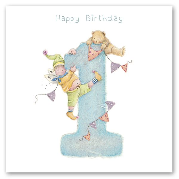 1st BIRTHDAY CARD - HAPPY Birthday - Birthday CARD For SON - Teddy 1st BIRT