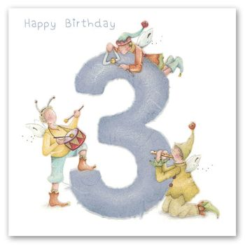 3rd Birthday Card Boy - Happy BIRTHDAY - MUSICAL BIRTHDAY Card - SON - Grandson - NEPHEW 3rd BIRTHDAY Card