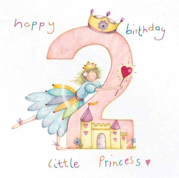 2nd Birthday Card Girl - Happy BIRTHDAY little PRINCESS - Princess BIRTHDAY