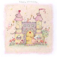 FAIRY CASTLE Birthday Card - Children's Birthday Card - FAIRY Princess Castle - GREETING Card - HAPPY Birthday -  GIRLS Birthday CARD - Fairy Card