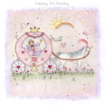 Birthday Card for Girl - HAPPY Birthday PRINCESS - Fairytale Princess Birthday CARD - Princess Birthday CARD - DAUGHTER - Granddaughter - SISTER