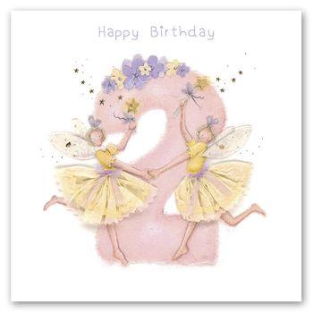 2nd Birthday Card Girl - Fairy BIRTHDAY Card - HAPPY Birthday - Children's BIRTHDAY Card - DAUGHTER - Granddaughter - NIECE Birthday CARD