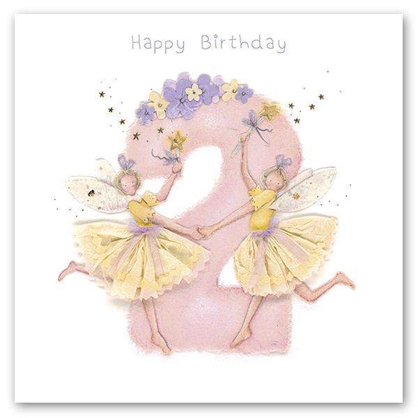 2nd Birthday Card Girl - Fairy BIRTHDAY Card - HAPPY Birthday - Children's