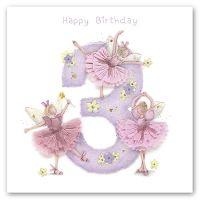 3rd Birthday Card Girl - Fairy BIRTHDAY Card - HAPPY Birthday - Children's BIRTHDAY Card - DAUGHTER - Granddaughter - NIECE Birthday CARD