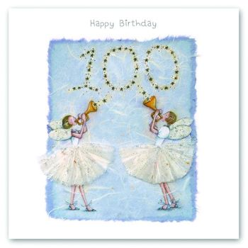 100th Birthday Card - FAIRY Card - HAPPY Birthday - MILESTONE Birthday - PRETTY Female Birthday CARD - Card FOR Niece - Friend - SISTER - Mum