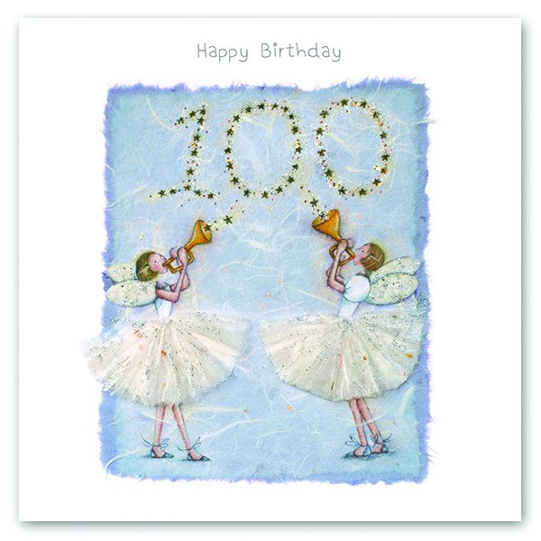 100th Birthday Card - FAIRY Card - HAPPY Birthday - MILESTONE Birthday - PR