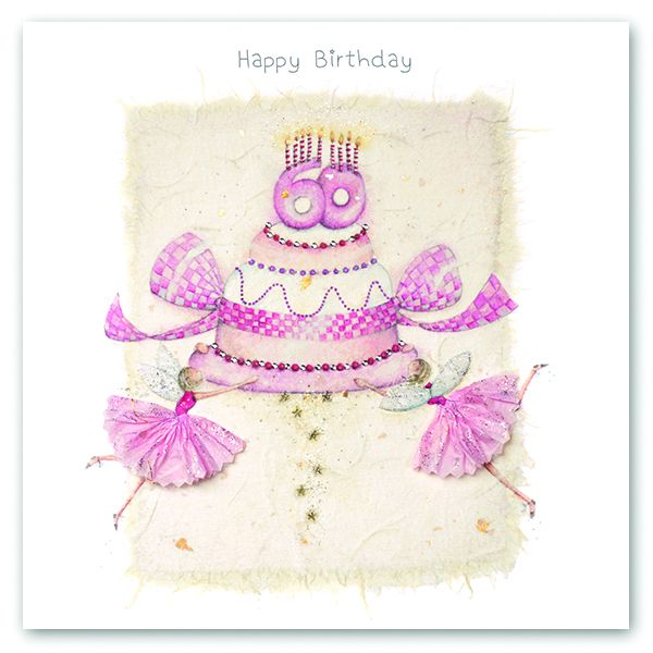 60th Birthday Card - FAIRY Card - HAPPY Birthday - MILESTONE Birthday - PRE
