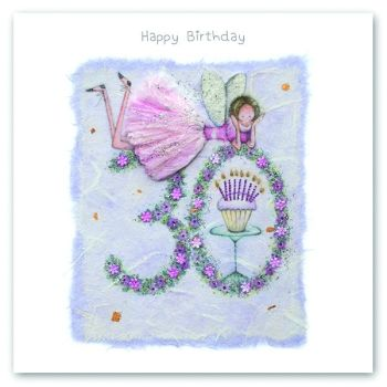 30th Birthday Card - FAIRY Card - HAPPY Birthday - MILESTONE Birthday - PRETTY Female Birthday CARD - Card FOR Daughter - Friend - SISTER - Mum
