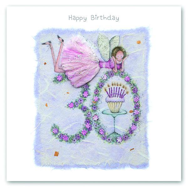 30th Birthday Card - FAIRY Card - HAPPY Birthday - MILESTONE Birthday - PRE