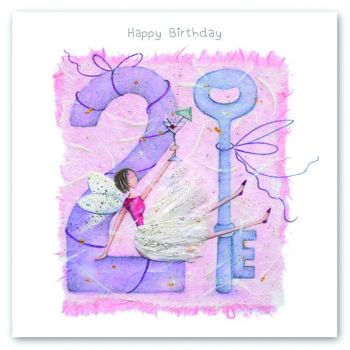 21st Birthday Card - FAIRY Card - HAPPY Birthday - MILESTONE Birthday - 21st BIRTHDAY Key - PRETTY Female Birthday CARD - Card FOR HER